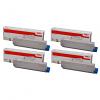 Original Oki 4644310 CMYK Multipack High Capacity Toner Cartridges (46443104/ 46443103/ 46443102/ 46443101)