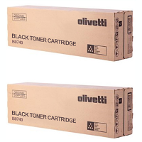 Original Olivetti B0740 Black Twin Pack Toner Cartridges (B0740)