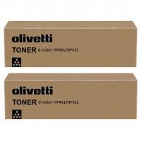 Original Olivetti B0818 Black Twin Pack Toner Cartridges (B0818)