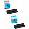 Premium Compatible Panasonic KX-FA133 Black Twin Pack Ink Film Ribbons (KX-FA133X)