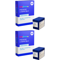 Premium Compatible Pitney Bowes 765-9SB / 765-9BN Blue Twin Pack Franking Ink Cartridges