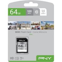 Original PNY 64GB High Elite Class 10 SDXC Memory Card (P-SD64GU1100EL-GE)