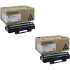 Original Ricoh 407166 Black Twin Pack Toner Cartridges (407166)