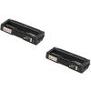 Original Ricoh 407638 Black Twin Pack Toner Cartridges (406348)