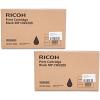 Original Ricoh 841635 Black Twin Pack Ink Cartridges (841635)