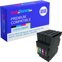 Premium Compatible Ricoh GC31H CMYK Multipack High Capacity Gel Ink Cartridges (405701 / 405706 / 405703 / 405708)
