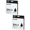 Original Ricoh GC31KH Black Twin Pack High Capacity Gel Ink Cartridges (405701)