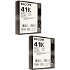 Original Ricoh GC41BK Black Twin Pack High Capacity Gel Ink Cartridges (405761)