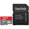 Original SanDisk Ultra 16GB MicroSDHC Memory Card with Adaptor (SDSQUAR016GGN6MA)