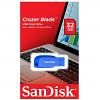 Original SanDisk Cruzer Blade 32GB Blue USB 2.0 Flash Drive (SDCZ50C032GB35BE)
