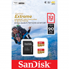 Original SanDisk Extreme 32GB MicroSDHC Memory Card Twin Pack + Adapter (SDSQXAF032GGN6AT)