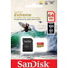 Original SanDisk Extreme Class 10 64GB microSDXC Memory Card (SDSQXA2064GGN6AA)