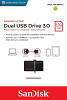Original SanDisk Ultra 128GB Dual USB 3.0 Flash Drive (SDDD2-128G-GAM46)