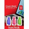 Original SanDisk Cruzer Blade 32GB USB 2.0 Flash Drive Pack of 3 (SDCZ50C032GB46T)