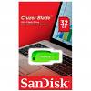 Original SanDisk Cruzer Blade 32GB Green USB 2.0 Flash Drive (SDCZ50C032GB35GE)
