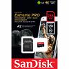 Original SanDisk Extreme Pro Class 10 256GB microSDXC Memory Card + SD Adapter (SDSQXCZ256GGN6MA)