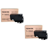 Original Toshiba T-1550E Black Twin Pack Toner Cartridges (60066062039)