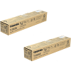 Original Toshiba T-2505E Black Twin Pack Toner Cartridges (6AJ00000156)