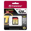 Original Transcend 128GB Class 10 UHS-I U3 SDXC Memory Card (TS128GSDU3)