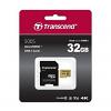Original Transcend 32GB MicroSD Memory Card with Adaptor (TS32GUSD500S)