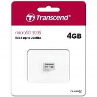 Original Transcend 300S Class 10 4GB microSDHC Memory Card (TS4GUSD300S)