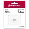 Original Transcend 64GB MicroSD Memory Card (TS64GUSD300S)