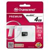 Original Transcend Class 10 4GB Micro SDHC Memory Card (TS4GUSDC10)