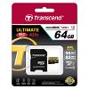 Original Transcend Class 10 64GB Micro SDXC Memory Card (TS64GUSDU3)