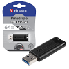 Original Verbatim Black PinStripe 64GB USB 3.0 Flash Drive (49318)