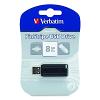 Original Verbatim PinStripe 8GB Black USB Flash Drive (49062)