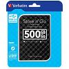 Original Verbatim Store 'N' Go 500GB Black USB 3.0 External Hard Drive (53193)