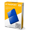 Original Western Digital My Passport 1TB Blue USB 3.0 External Hard Drive (WDBYNN0010BBL-WESN)