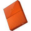 Original Western Digital My Passport Orange 4TB USB 3.0 External Hard Drive (WDBYFT0040BOR-WESN)