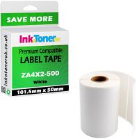 Compatible Zebra 101.5mm x 50mm White Standard Shipping Label Roll - 500 Labels (ZA4X2-500)