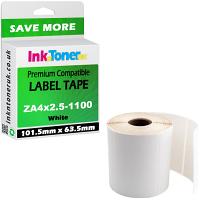 Compatible Zebra 101.5mm x 63.5mm White Shipping Label Roll - 1,100 Labels (ZA4x2.5-1100)