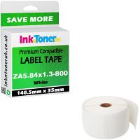 Compatible Zebra 148.5mm x 35mm White Shipping Label Roll - 800 Labels (ZA5.84x1.3-800)