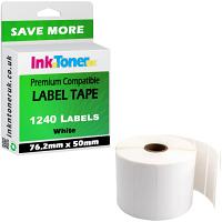 Compatible Zebra 76.2mm x 50mm White Label Roll - 1240 Labels (C01889380)