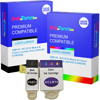 Compatible Advent ABK10 / ACLR10 Black & Colour Combo Pack Ink Cartridges (851943 & 900248)