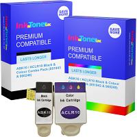 Compatible Advent ABK10 / ACLR10 Black & Colour Combo Pack Ink Cartridges