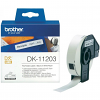Original Brother DK-11203 Black On White 17mm x 87mm File Folder Label Tape - 300 Labels (DK11203)