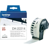 Original Brother DK-22214 Black On White 12mm x 30.48m Continuous Paper Label Tape (DK22214)