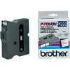 Original Brother TX-251 Black On White 24mm x 15m P-Touch Label Tape (TX251)