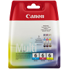 Original Canon BCI-6 Cyan Magenta Yellow Pack Ink Cartridges (4706A022)