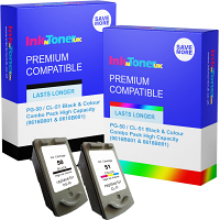 Premium Compatible Canon PG-50 / CL-51 Black & Colour Combo Pack High Capacity Ink Cartridges (0616B001 & 0618B001)