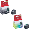 Original Canon PG-50 / CL-51 Black & Colour Combo Pack High Capacity Ink Cartridges (0616B001 & 0618B001)