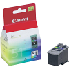 Original Canon CL-51 Colour High Capacity Ink Cartridge (0618B001)
