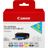 Original Canon PGI-550PGBK / CLI-551 C, M, Y, K, GY Multipack Ink Cartridges (6496B005)
