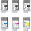 Original Canon PFI-102 Multipack Set Of 6 Ink Cartridges (PFI-102MBK /MBK/BK/C/M/Y)