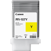 Original Canon PFI-107Y Yellow Ink Cartridge (6708B001AA)