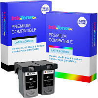 Premium Compatible Canon PG-40 / CL-41 Black & Colour Combo Pack Ink Cartridges (0615B043)